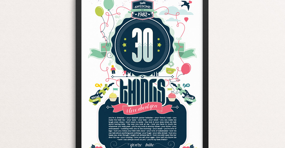 Poster Design - 30 Things