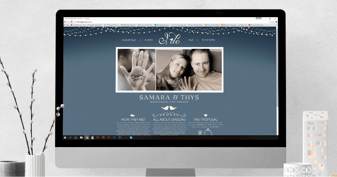 Website Design - Samara & Thys' Wedding