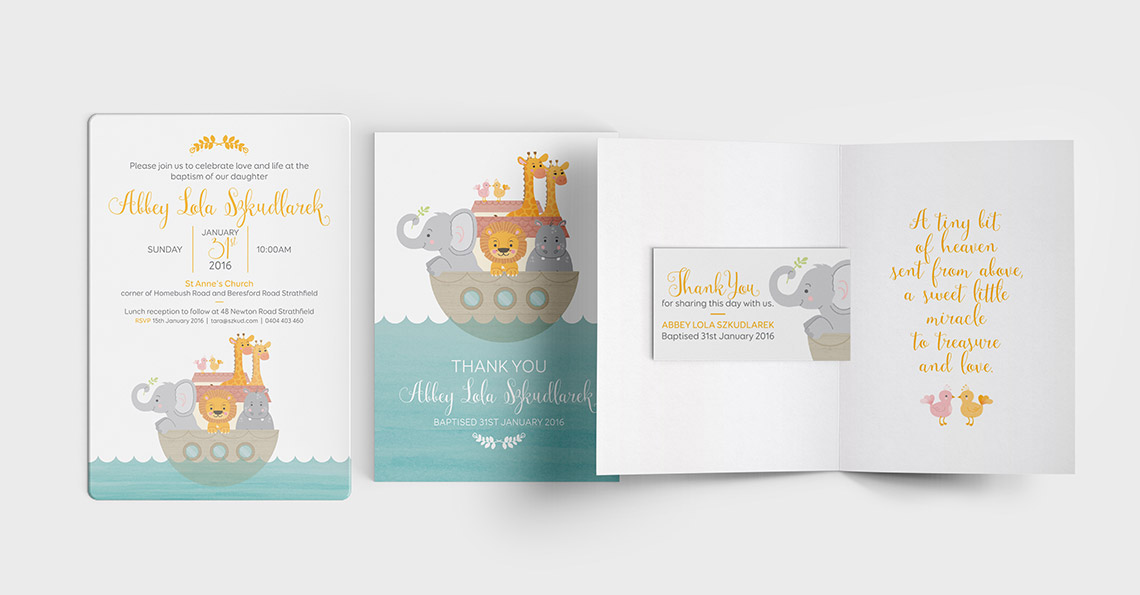 Illustration and Invitation Design - The Ark