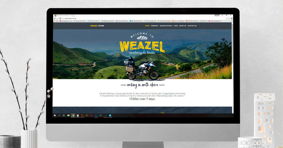 Website Design - Weazel Motorcycle