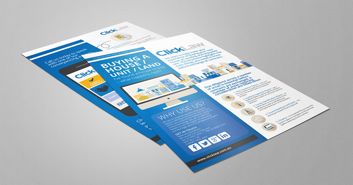 Flyer and Business Card Design - ClickLaw