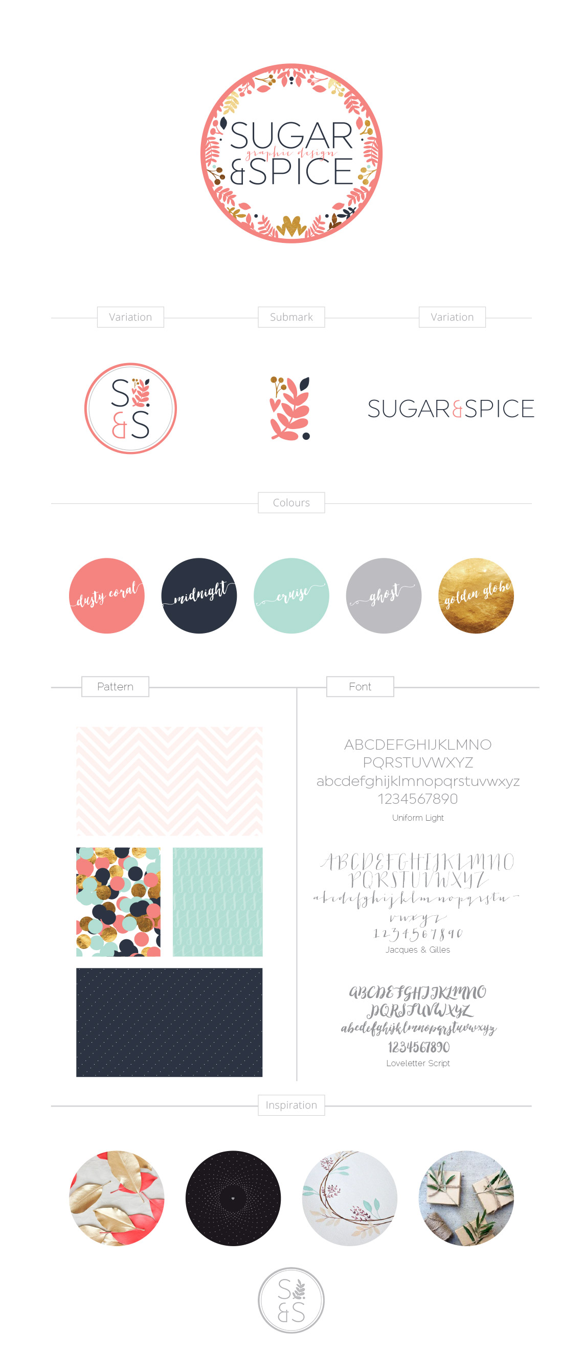 Logo and Branding Sugar and Spice Design