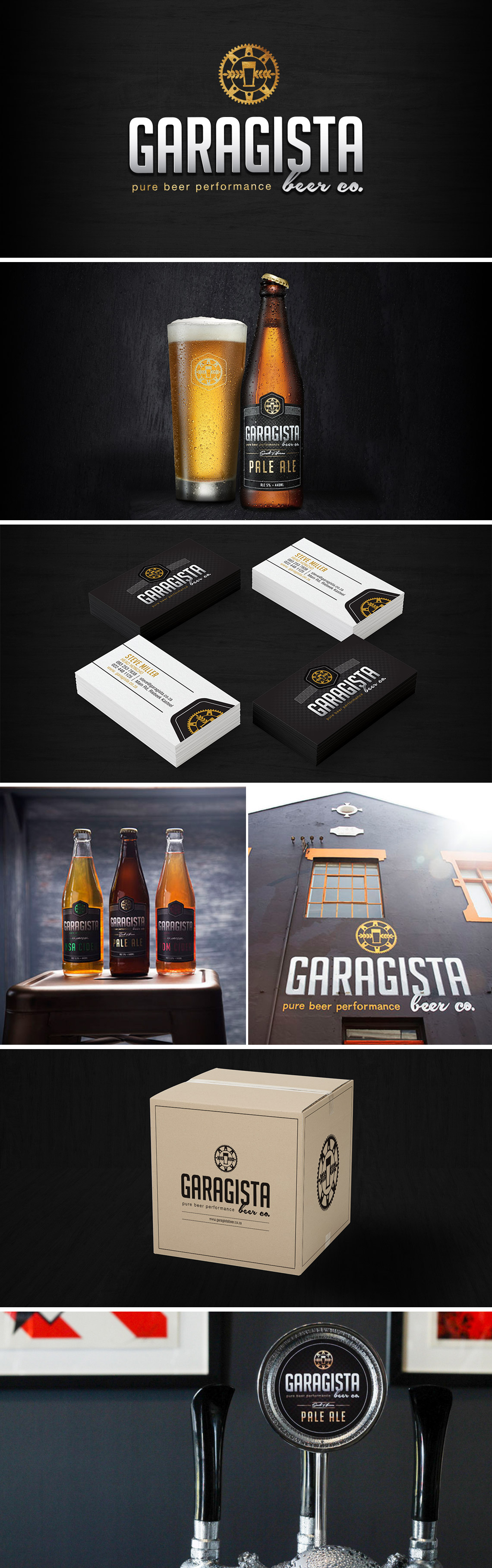 Logo and Branding Garagista Beer Co.